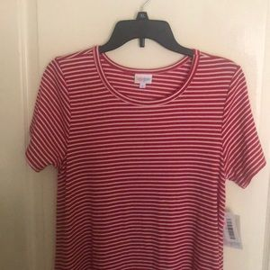 LulaRoe Carly dress size S Red and White stripe
